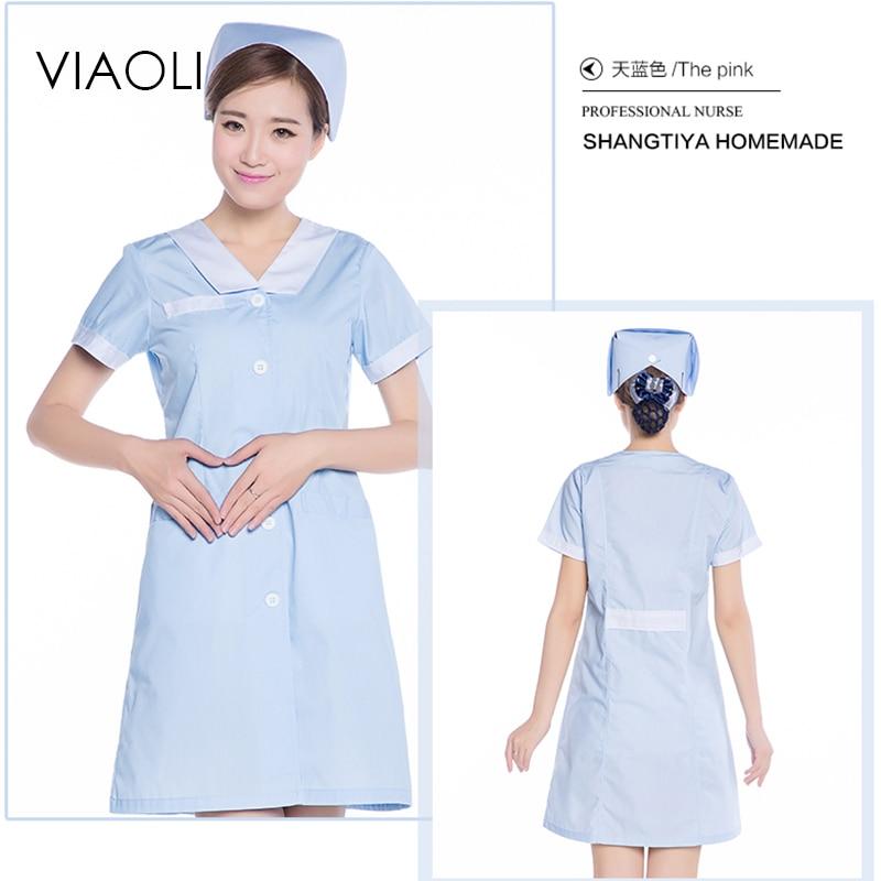 Viaoli Pink Medical Uniform Uniform Beauty Salon Work Dress ...