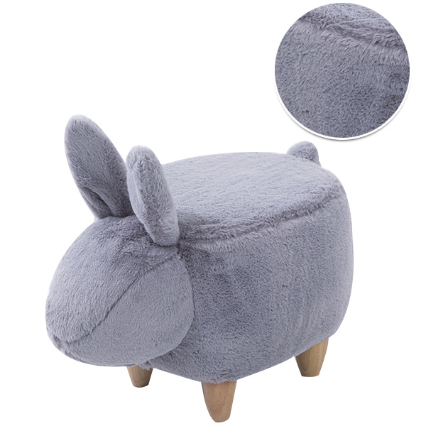 Creative rabbit shoe bench American solid wood footrest shoes stool modern minimalist stool in Stools Ottomans from Furniture