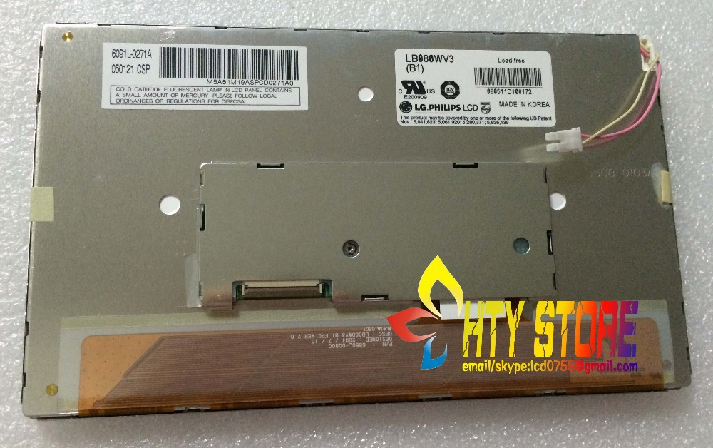 Original 8inch LCD screen for LB080WV3(B1) free shipping free shipping 10pcs stk730 080