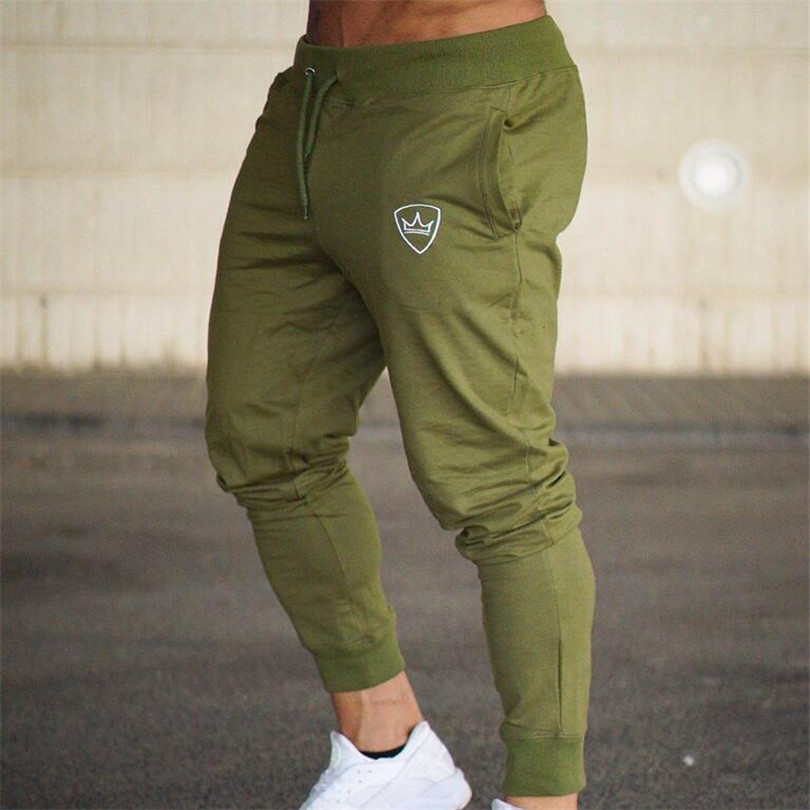 2018 Männer Turnhallen Lange Hosen Mid Baumwolle Männer Sporting Workout Fitness Hosen Casual Mode Jogginghose Jogger Hose Dünne Hosen Ausgereifte Technologien