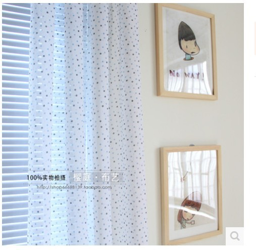 280cm 2015 high end blue point beige white tulle voile curatins living room in curtains from home garden on aliexpresscom alibaba group