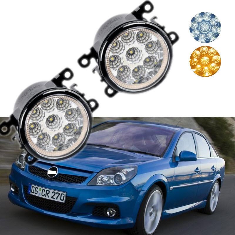 For Opel Vectra GTS OPC C 2005-2008 9-Pieces Leds Chips LED Fog Light Lamp H11 H8 12V 55W Halogen Fog Lights Car Styling for opel vectra c estate 2003 04 05 06 07 car styling led fog lamps fog lights drl refit blue 12v 2 pcs
