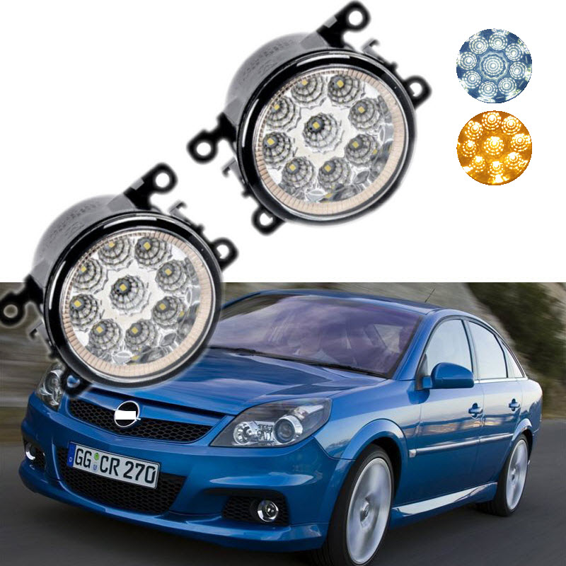 For Opel Vectra GTS OPC C 2005-2008 9-Pieces Leds Chips LED Fog Light Lamp H11 H8 12V 55W Halogen Fog Lights Car Styling for opel meriva a 2006 2007 2008 2009 2010 9 pieces leds chips led fog light lamp h11 h8 12v 55w halogen fog lights car styling