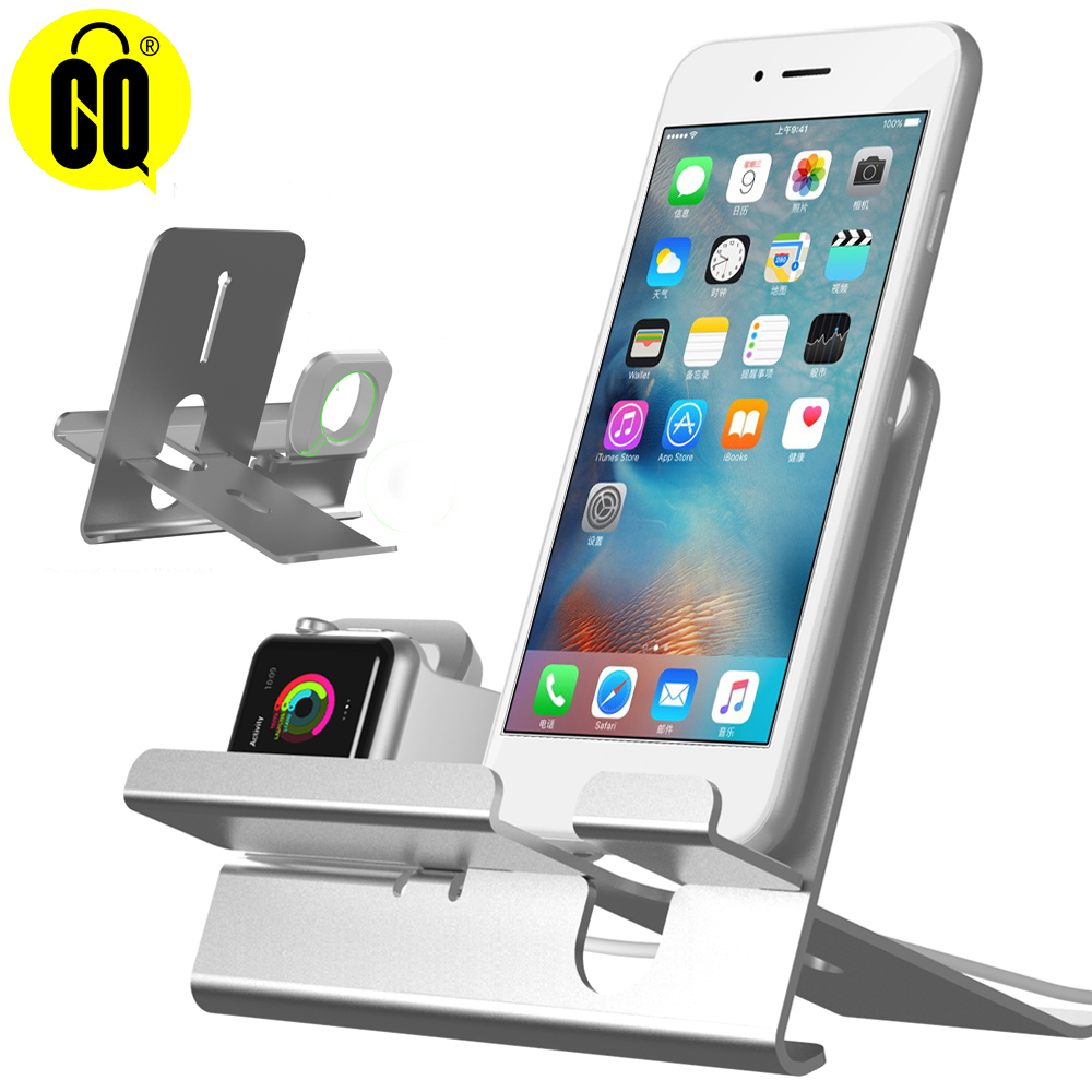 New Charging Dock station For iPhone X XR For Apple Watch series1 2 3 4 stand Aluminum Alloy Desk Charging Dock in Phone Holders Stands from Cellphones Telecommunications