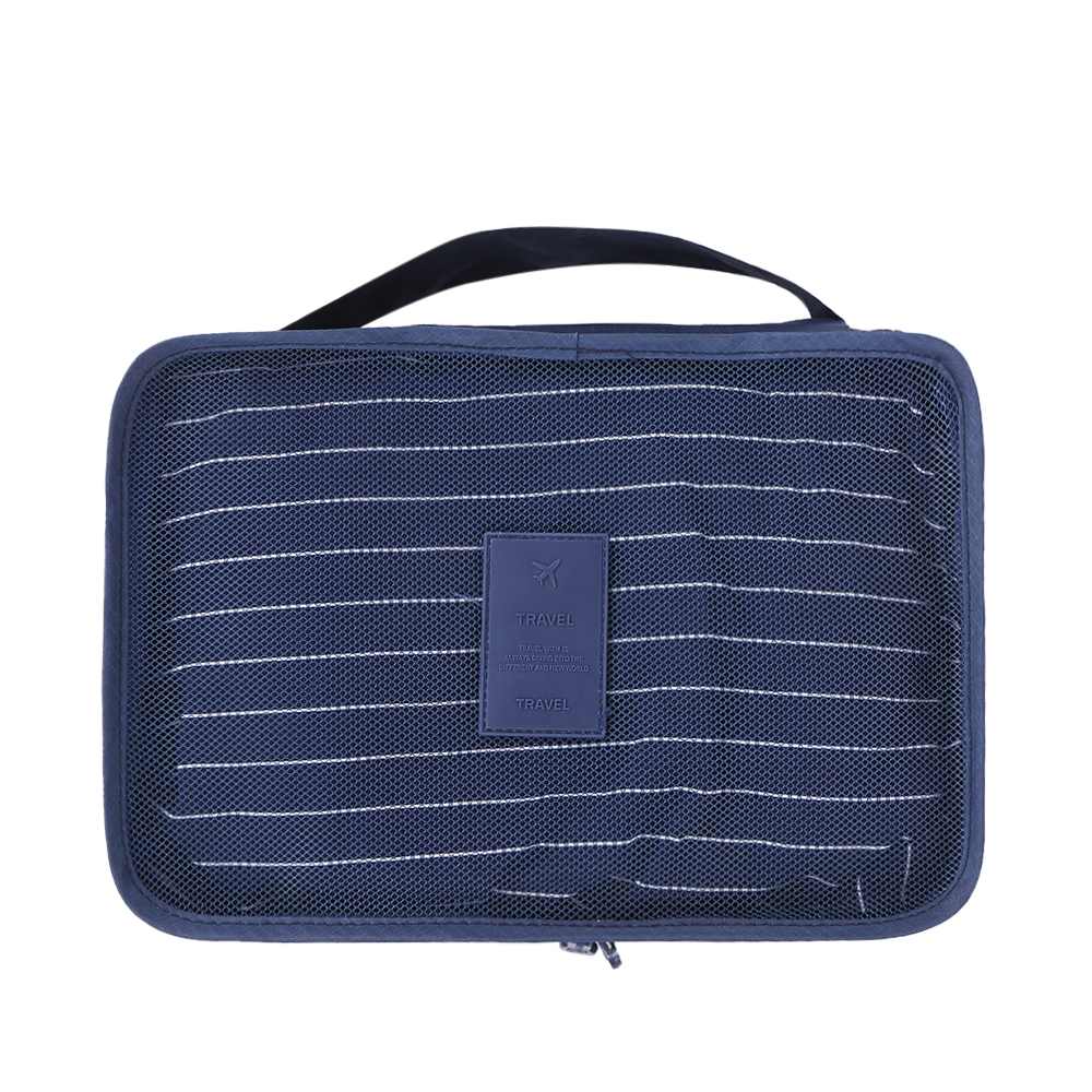 d22924132310 US $8.6 32% OFF|6pcs/set Waterproof Oxford Travel Storage Bags Pouches  Luggage Packing Cubes Organizer for Clothing Toiletries Cosmetics Navy B-in  ...