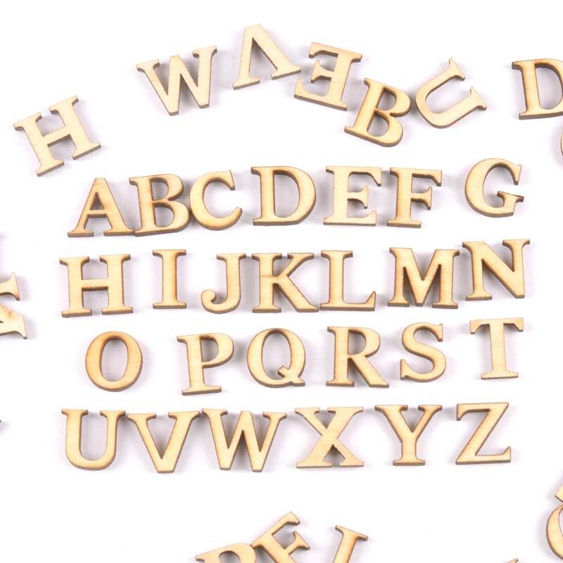 78Pcs 3 Set Natural Alphabet Letter Wooden Scrapbooking Art Craft For Handmade Accessory Home Decoration 17mm MT1957