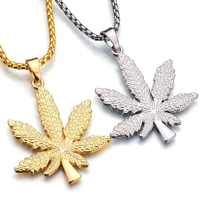 Gold silver color hemp pendants necklaces women men rhinestone hip gold silver color hemp pendants necklaces women men rhinestone hip hop jewelry gifts weed herb chains aloadofball Images