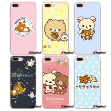 For iPhone X 4 4S 5 5S 5C SE 6 6S 7 8 Plus Samsung Galaxy J1 J3 J5 J7 A3 A5 2016 2017 Rilakkuma cat bear TPU Soft Silicone Case(China)