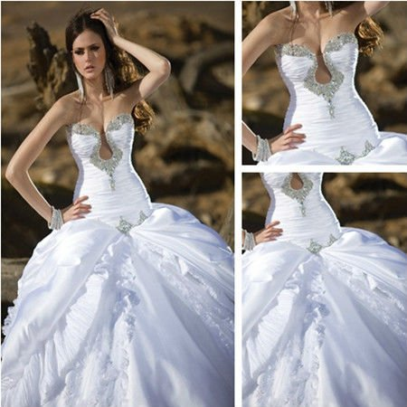 chinese online store 2017 woman white ivory affordable royal sexy celebrity couture front split ball gowns bride wedding dress