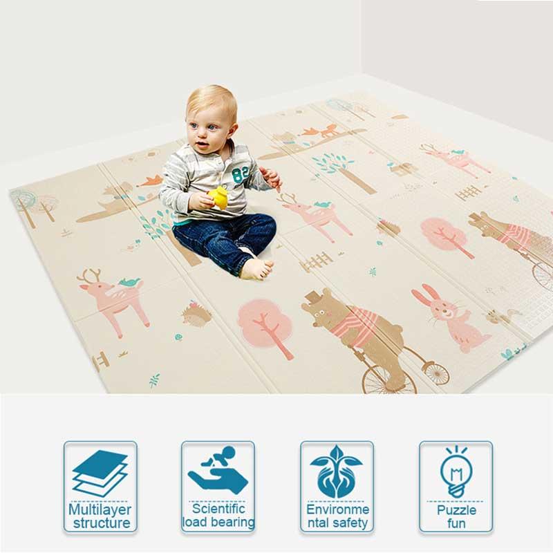 Tapis de jeu bébé 180x200x1 cm épaisseur bébé activité Gym activité Puzzle tapis pour enfants développement tapis Tapete Alfombra Infantil