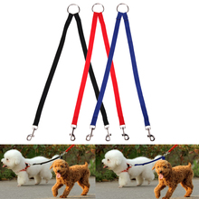 Traction Rope Coupler Leash Lead Dog-Cats-Supplies Nylon Walking Pet-Dog for Two-Dogs-Collar