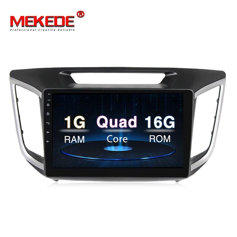 MEKEDE Android 8.1 Voiture lecteur multimédia pour HYUNDAI IX25/CRETA 2014 2015 2016 2017 2018 Lecteur DVD de Voiture Navigation GPS Radio