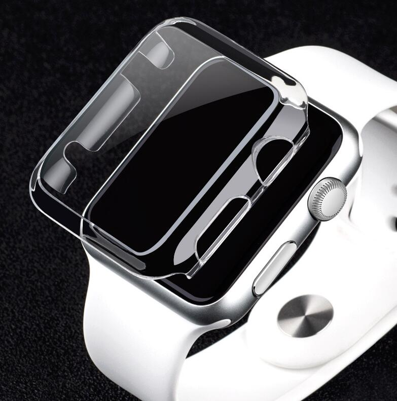For Apple Watch Series 1 2 3 For 38mm/42mmLuxury Crystal Ultra Thin Hard PC Plastic Transparent Clear Transparent Case Cover