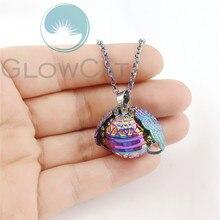 Rainbow Magic 4 Photo Pendant Memory Floating Locket Necklace Angel Wings Flash Box Fashion Album Box Necklaces