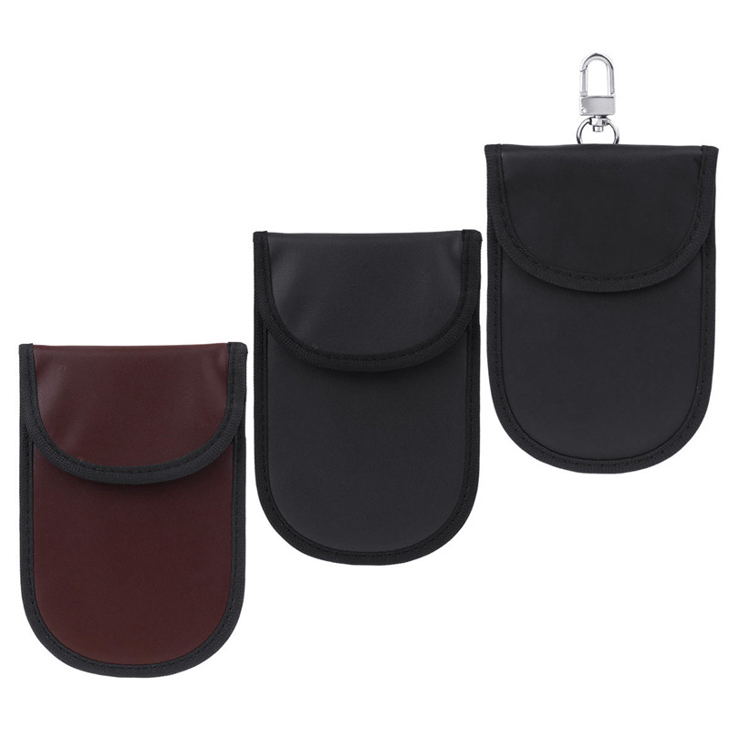 Pack of 2 Car Key Signal Blocking Case RFID Key Bag Fob Protector Anti-Hacking Casual Security Bag WIFI GSM LTE NFC RF Blocker