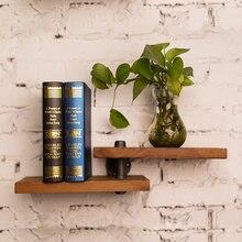 2018 Nieuwe Collectie Ijzeren Pijp Hout Panel Boek Plank Retro Art Display Planken Boekenkast Decoratieve Boekenplank Voor Woonkamer