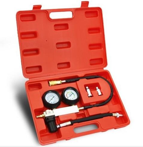 TU-21 Petrol Engine Cylinder Compression Leak Detector Tester Gauge Tool Kit CNPAM Free