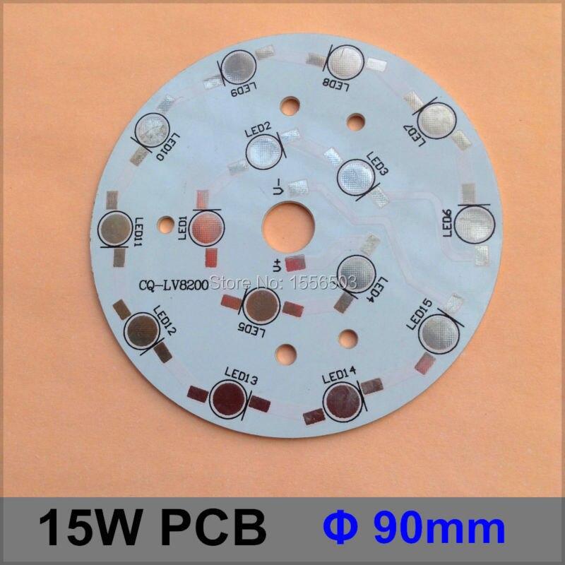 50 Pcs/lot LED Aluminum Base 90mm 15W Round Diameter LED High Power PCB Plate Circuit Base For 15W LED Lamp Board