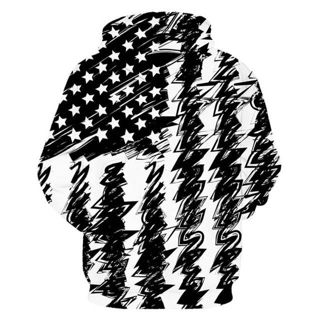 BLACK & WHITE USA 3D HOODIE