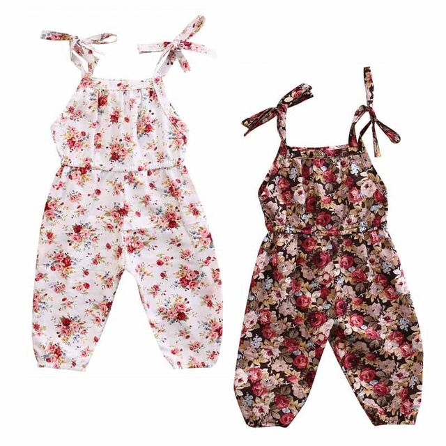 863664873532 New Fashion Newborn Baby Kids Girl Floral Romper Jumpsuit Sleeveless Cotton  Clothes Outfits