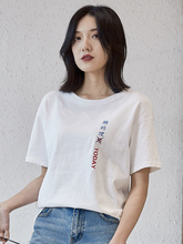 Oukytha Women T-shirts Fanny Chinese Charecters Printed 2019 New Fashion Tops Female Tees Short Sleeve Summer T-shirt