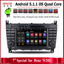 free shipping RK3188 Android 5.1.1 Quad core Car DVD GPS Player For Benz/W203/W209/W169/W219/A-Class/A160/C-Class/C180/C200