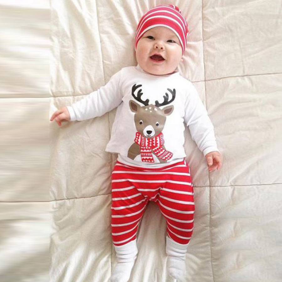 Baby Christmas Outfits New 100 Cotton 3 Months 2 Years Old Newborn