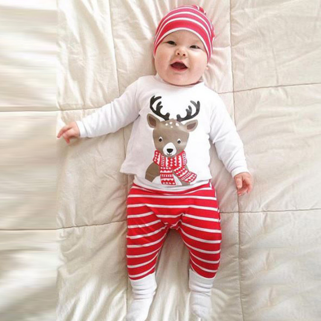 6e584d9d9a9 Baby christmas outfits new 100% cotton 3 months 2 years old newborn baby  girl clothes cheap baby boy clothes