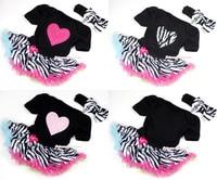 Traje negro dress rainbow zebra pettiskirt del mono del mameluco del bebé de la venda nb-18m majs0063