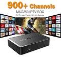 MAG 250 Iptv Set Top Box Sky Itália REINO UNIDO DE Linux Europeu Caixa De IPTV Para Espanha Portugal Holanda Turco MAG250 IPTV Wi-fi Caixa de Tv