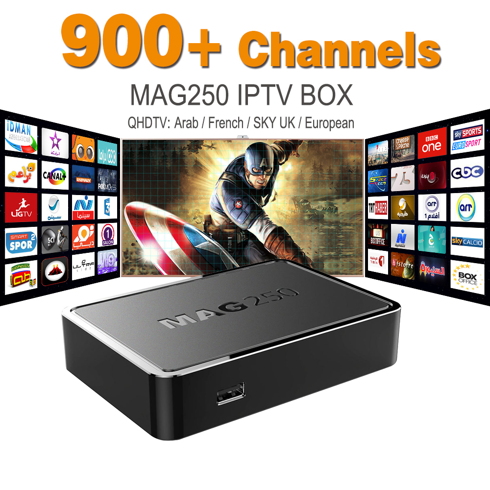 MAG 250 Iptv Set Top Box Sky Italy UK DE Linux European IPTV Box For Spain