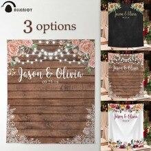 Свадебный баннер Allenjoy, фон для фотосъемки, Деревянный Цветочный декор, вывеска, фон для фотосъемки, Фотофон, экофон, полиэстер, на заказ