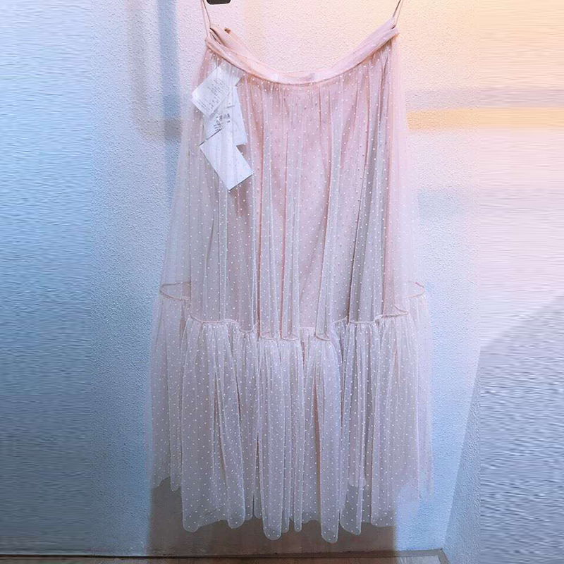Jupe 2019 Gamme bleu Tulle Rose Femmes Brodé D'été Noir Noir Bleu Élégant rose Haut Jupes Printemps De Shein qvqarS