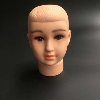цена на Durable Lovely Plastic Children Mannequin Child Kid Baby Manikin Head Hair Wig Hat mould Stand Display Model Tool