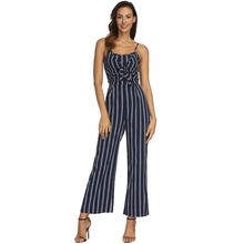 fd3bb88752dd 2019 New Off Shoulder Striped Jumpsuit Sexy Bow Strap High Split Rompers  Summer Sleeveless Backless Wide