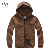 HanHent New Arrival Men Hoody 2016 Autumn Winter Fashion Zipper Fleece Hoodies Warm Men Clothing Sweatshirt