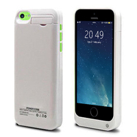 2200mAh External Power Bank Charger Pack Backup Battery Case With Built In Kick Stand For Iphone