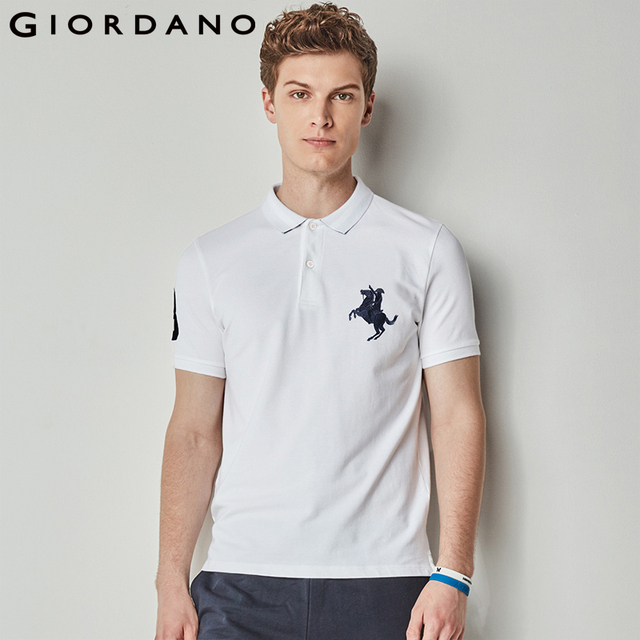 6274d04e1358 Giordano Men Polo Shirt Men Napoleon Embroidery Polo Homme Pattern Polo  Camisa Shirt Masculina New Arrival