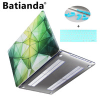 Colorful 3D Geometry Print Cover Case For Apple MacBook Pro Retina 13 15 Hard Clear Shell