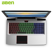 BBEN G16 15.6″ Win10 Intel I7-7700HQ Kabylake Nvidia GTX1060 GDDR5 FHD1920*1080 8GB RAM 128G SSD 2TB HDD RGB Backlit Keyboard PC