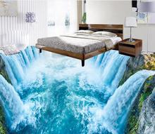 цена на Home Decoration  3D waterfall living room floor mural Waterproof floor mural painting self-adhesive 3D floor