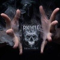 1 Cubierta de Bicicletas Muertos Soul Naipes Magic Card Poker Apoyos Mágicos Trucos de Magia Negro Colores Estándar para el Mago Profesional