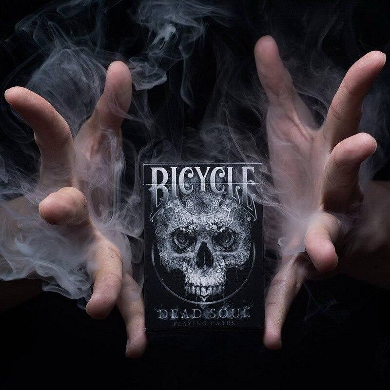 1 Deck Fahrrad Toten Seele Spielkarten Zaubertricks Schwarz Farben Standard Poker Magie Karten Zauberrequisiten für Professionelle Magier