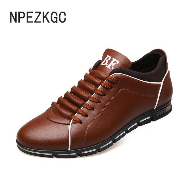 5cb0b0b2288 NPEZKGC Luxury Brand Men Shoes England Trend Casual Leisure Shoes Leather Shoes  Breathable For Male Footear Loafers Men s shoes