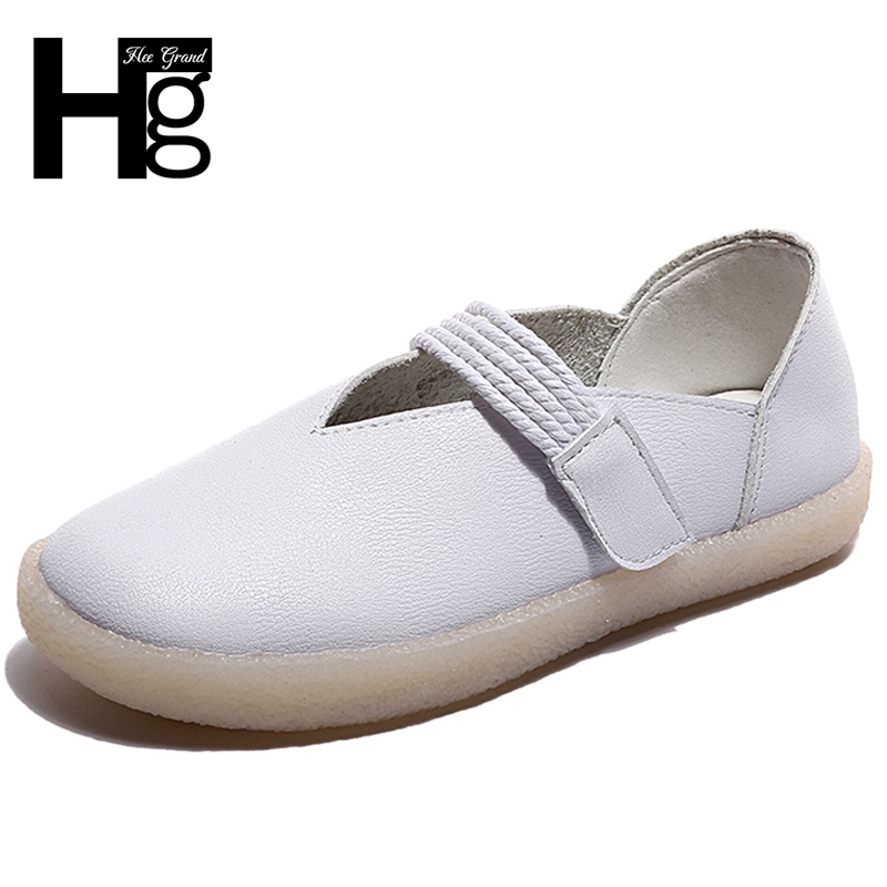 HEE GRAND Round toe Women Loafers Shoes Round Toe Casual Pattern Lady Flats Wide Shallow Slip on Women Flats Shoes XWD6854