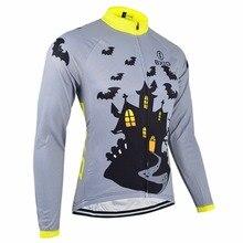 BXIO Invierno Maillot Ciclismo Invierno Fleece Thermal Cycling Jerseys Pro MTB Bike Wear de Manga Larga Otoño Ropa de Bicicletas 028J