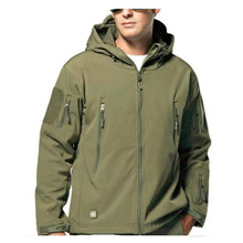 8efbd4bc9b96d 2018 Winter Men's Shark Skin Military Windproof Tactical Softshell Jacket  Men Camouflage Army soft shell Coat