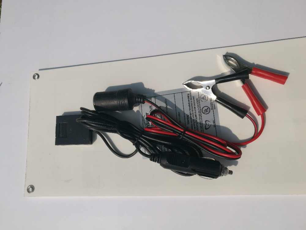 Waterproof Zonnepanelen 100 watt Solar Panel flexible 12V 20W 5PCS  Lighter Solar Phone Charger Battery Motorhome Camping Car