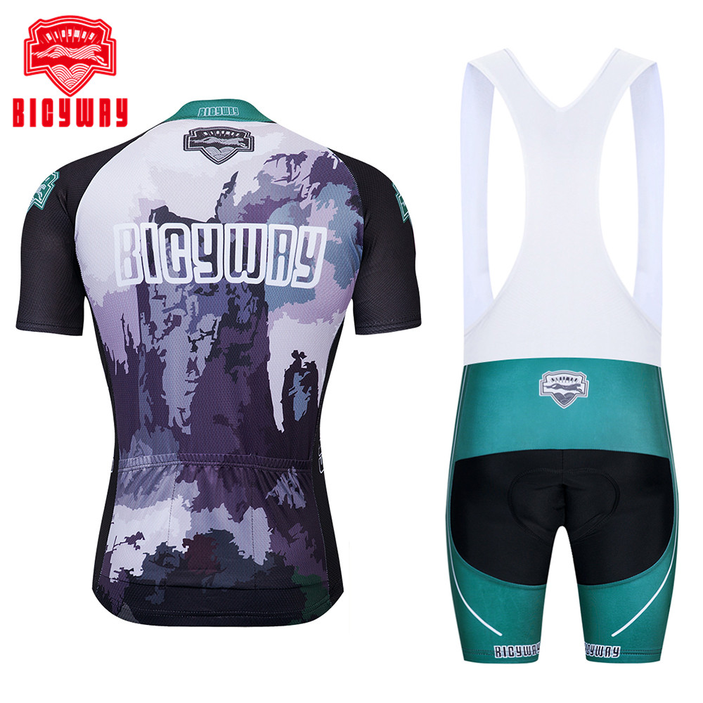 050db5340 100% Polyester Short Sleeve Cycling Jersey Quick Dry Pro Team Summer ...