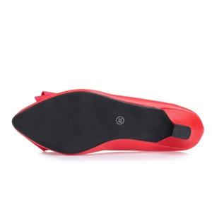 Image 5 - BEYARNE Neue mode Büro Dame niedrigen heels arbeit Schuhe frau pumpen Frauen herbst frühling arbeit Schuhe pointedtoe bowtie35 41yellowE495